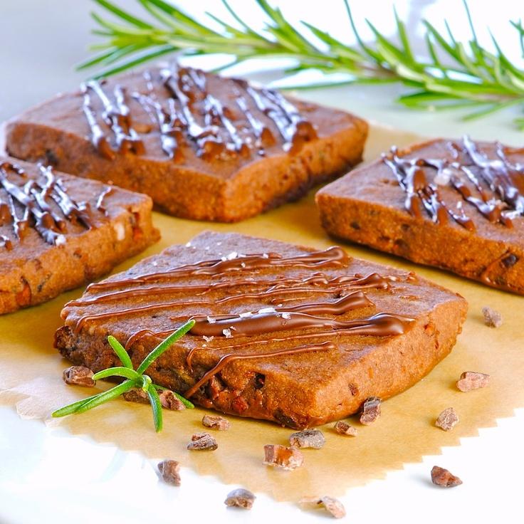 Triple Chocolate Rosemary Shortbread Cookies