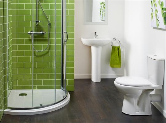 Small Windowless Bathroom With Colour House Ideas Pinterest The O 39 Jays Green Tiles And