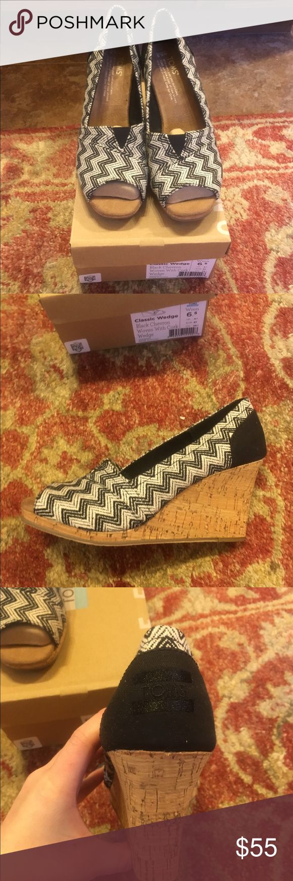 TOMS chevron wedges Brand new TOMS Shoes Wedges