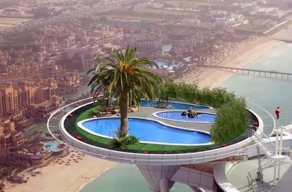 Pool at the burj al arab dubai crazy places to stay for Hotel with private swimming pool in dubai