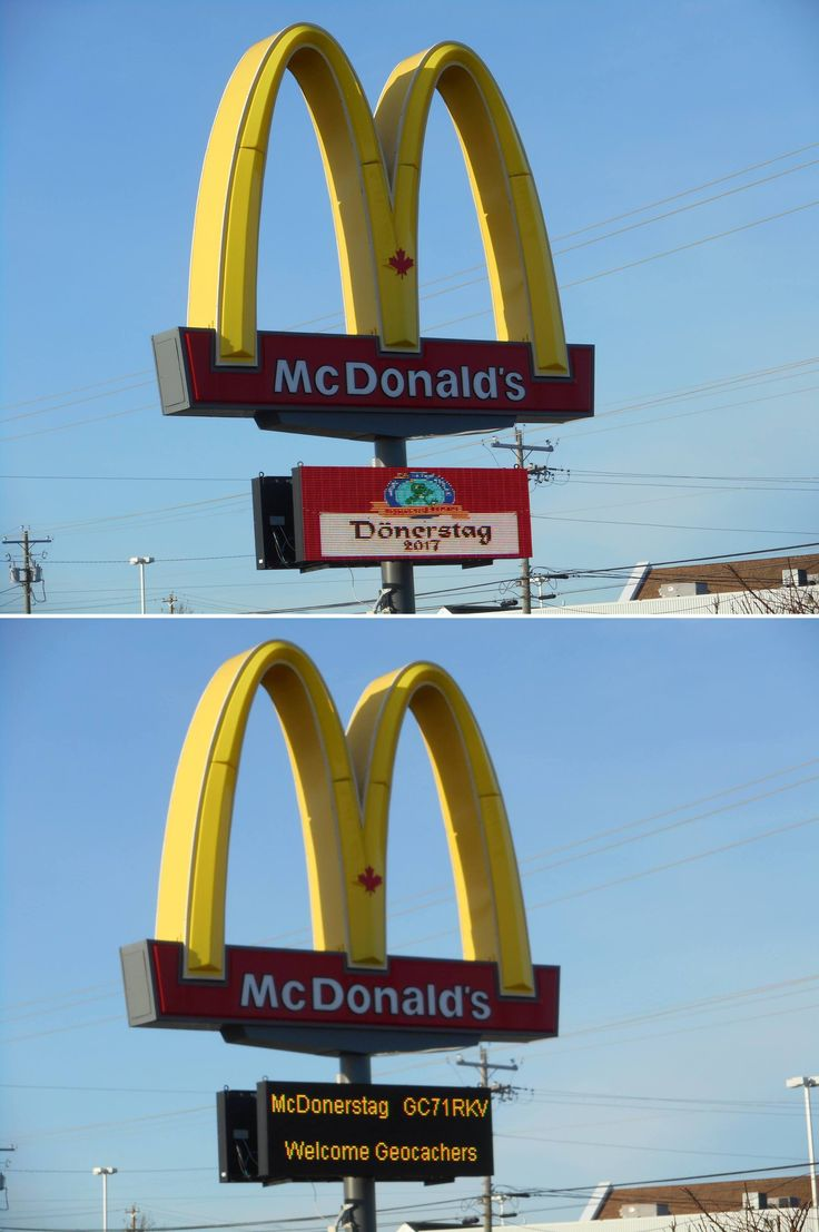 Who knew the golden arches could be so supportive of geocachers? Did you attend a Donerstag event? (Team Bullsgut pic) #IBGCp