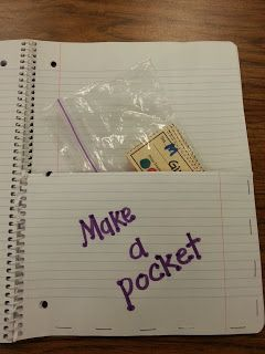 Make a Pocket...Great organizational tips!