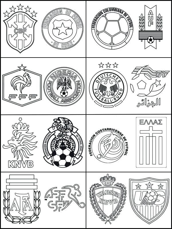 World Cup 2018 Teams And Flags Coloring Pages To Print Flag Coloring Pages Coloring Pages Sports Coloring Pages