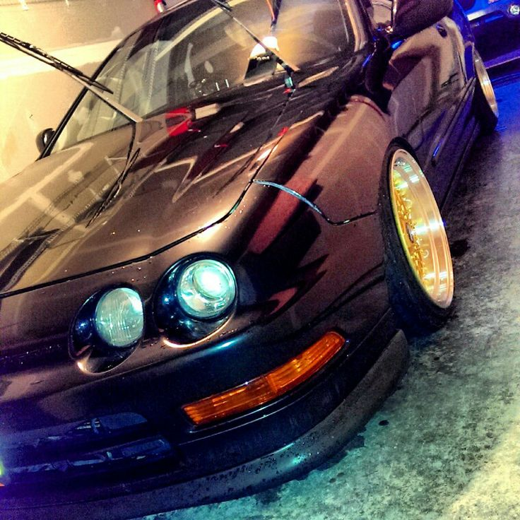 Dc2 Integra Gsr Type R Itr Stanced Slammed Black 94-97 Jdm