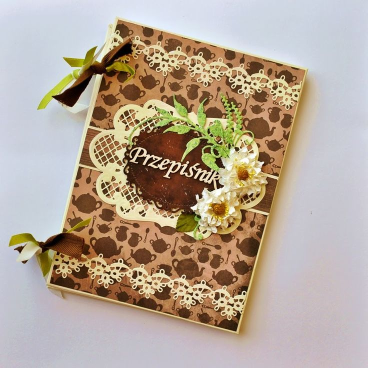 Notebook , diy , Cook Book handmade. Scrapbooking . Paperpassion.pl