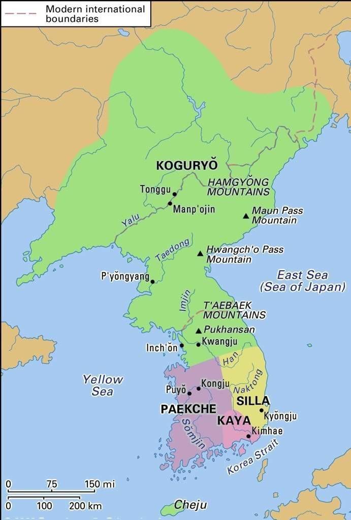 Korea During The Three Kingdom Period 5th Century Korea Sea Of Japan Map