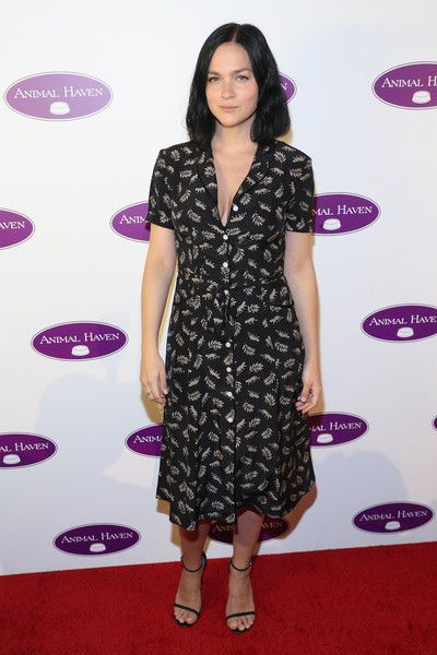 Leigh Lezark Shirtdress - Leigh Lezark kept it simple in a printed shirtdress at the Animal Haven 50th anniversary gala.
