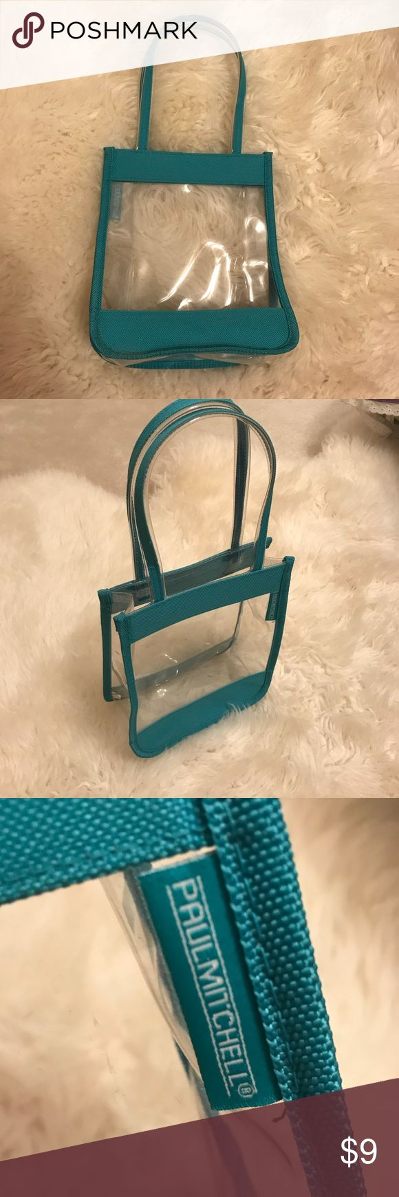 Paul Mitchell clear cosmetic bag Turquoise and clear bag- great for makeup and cosmetics! Paul Mitchell Bags