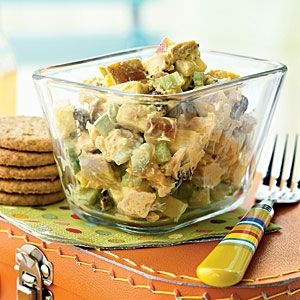 Chicken Salad Recipes | Curried Chicken Salad with Apples and Raisins | CookingLight.com