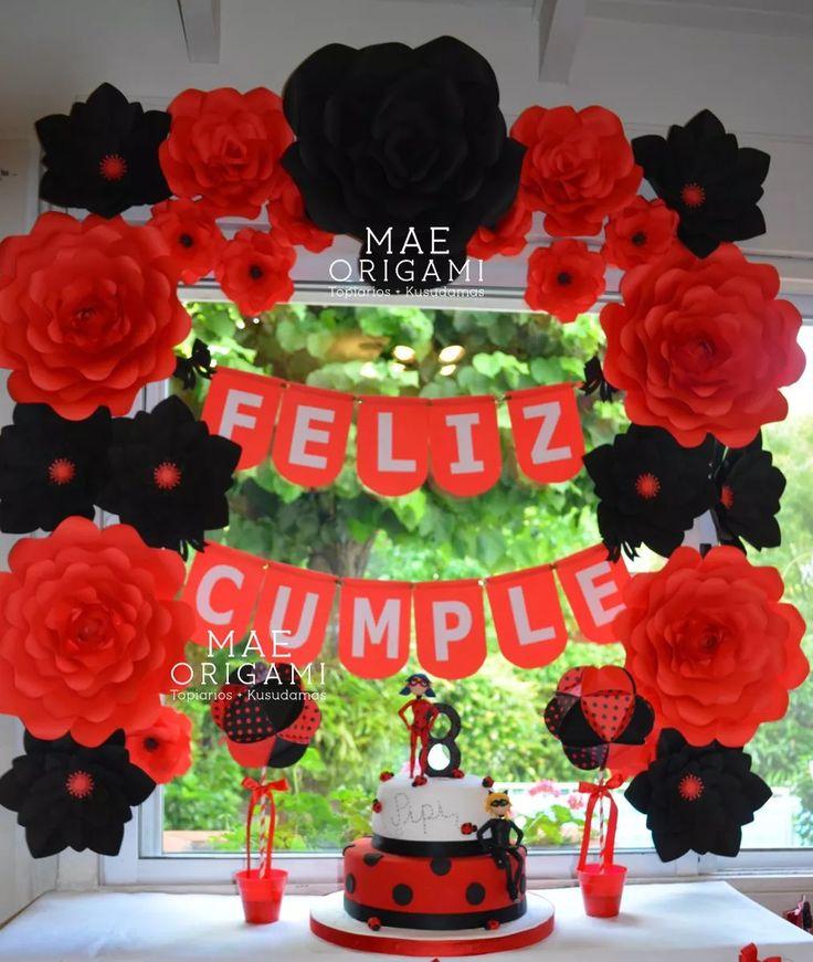 10 Flores Gigantes De Papel 35 Y 45 Cm - $ 800,00 en Mercado Libre