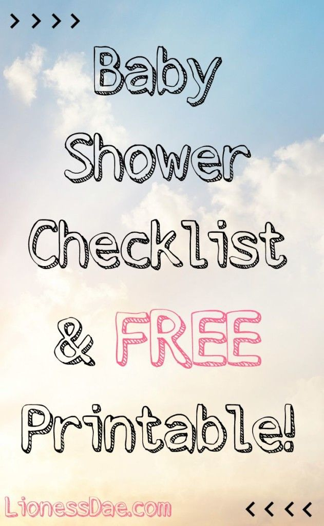 Top 25 Ideas About Baby Shower Checklist On Pinterest