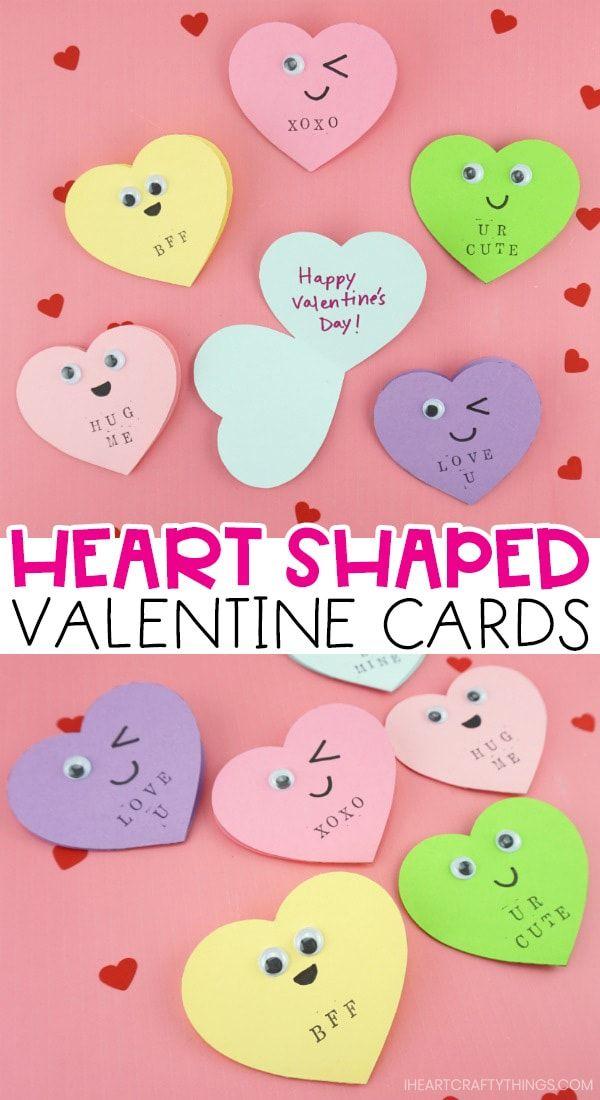 Heart Shaped Valentine S Day Card Valentine Day Cards Heart Shaped Valentines Cute Valentines Card