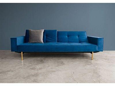 Sofa bed in dark grey