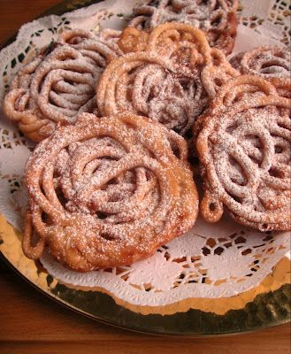 Tippaleivät - funnel cakes :)  It's a traditional finnish treat finns bake always for 1st of May - for 'Vappu' celebration