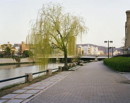 Pathway Towards Aioi Bridge, Hiroshima, 26/03/2010, 6.33 (weeping blur)