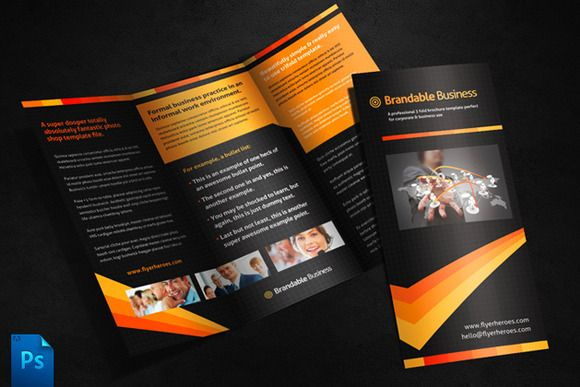 Business Tri Fold Brochure Template by Quickandeasy on @creativework247