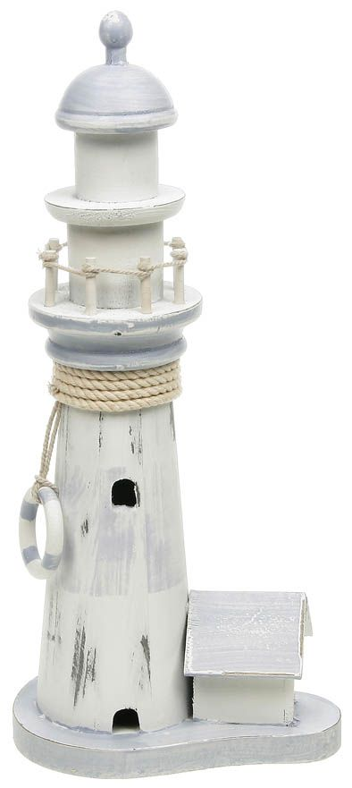 Nautical Shabby Rustic Chic Distressed Standing Pastel LIGHTHOUSE Decoration | eBay