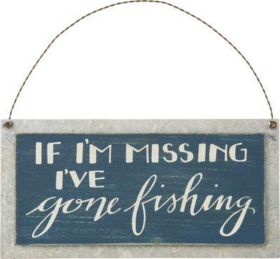 Item # 27589 | Sign - Gone Fishing | Primitives by Kathy