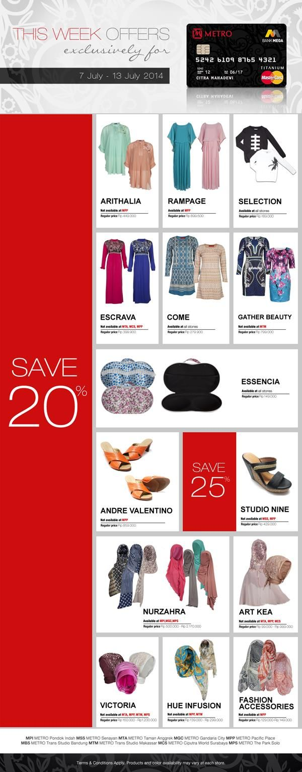Metro Department Store: This Week Offers Save 20% @METROdept