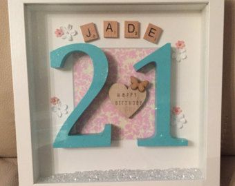 Birthday box frame. by TashasTreasuresShop on Etsy