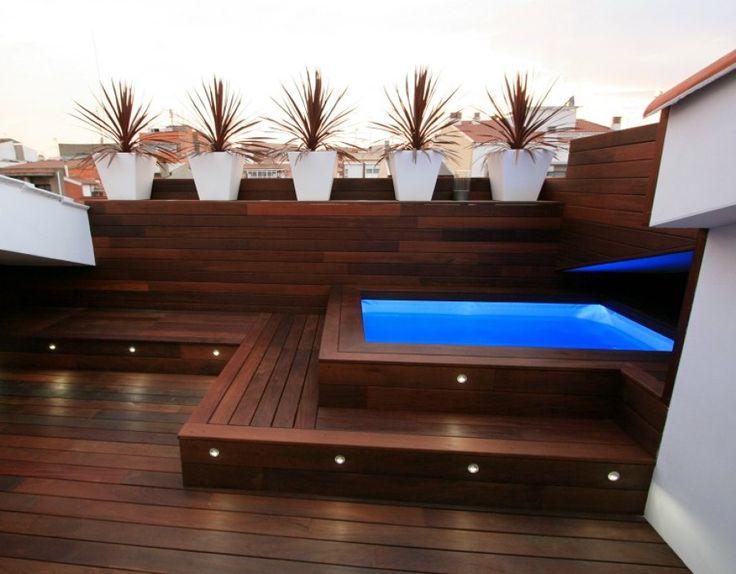 Las 25 mejores ideas sobre piscina en la azotea en for Toldos para patios pequenos