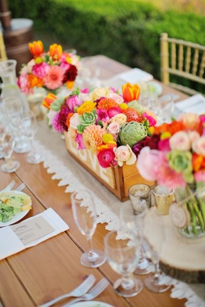 colourful ranch wedding