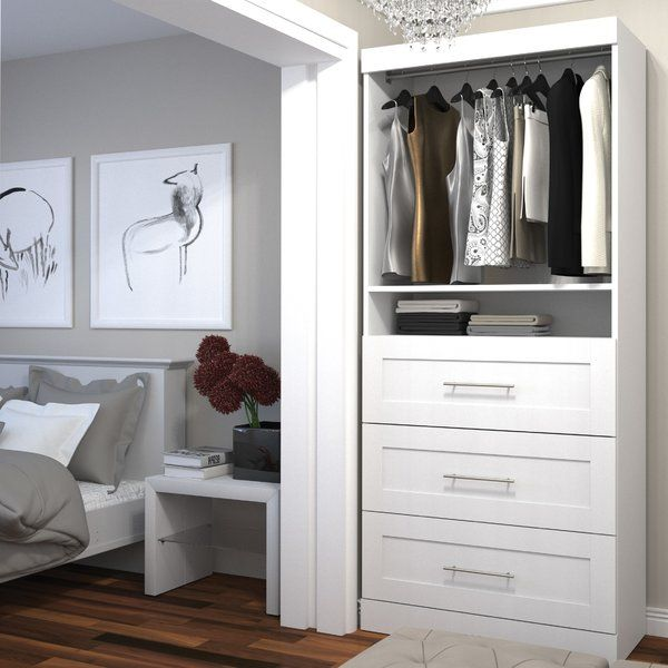 """The kit comprises a 25"""" storage unit with 3 drawer set. 2 fixed and 3 adjustable shelves to maximize your options. Drawers are mounted on ball-bearing slides for smooth and silent operation. Shaker-inspired trim and metal handles on drawers."""