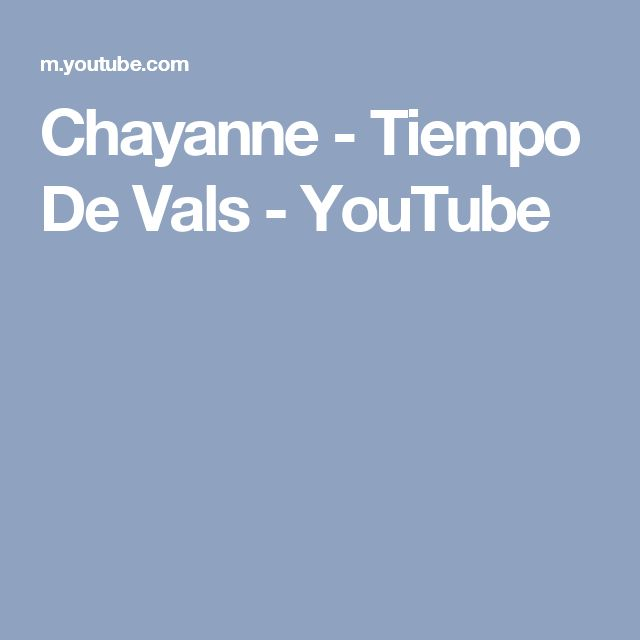 Chayanne - Tiempo De Vals - YouTube