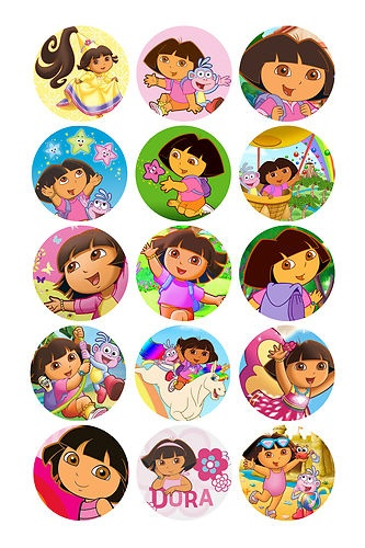 24 X Dora THE Explorer Edible Icing Cupcake Toppers PRE CUT | eBay