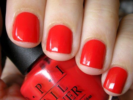 OPI Red My Fortune Cookie is perfect for every skin tone. Want.