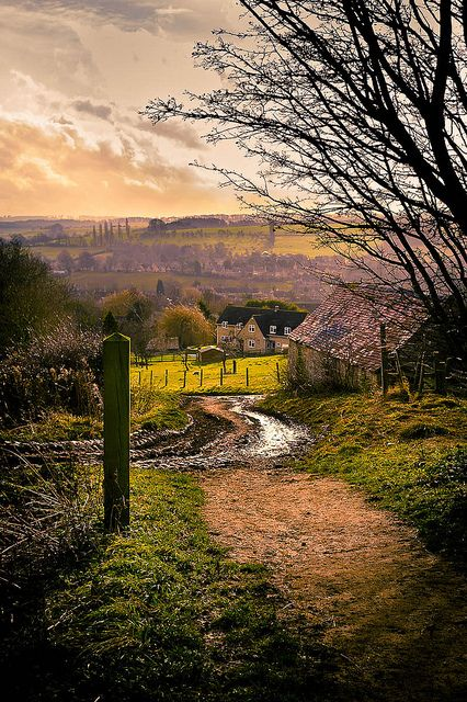 This is Hoo Lane in Chipping Campden - part of the Cotswold Way, England