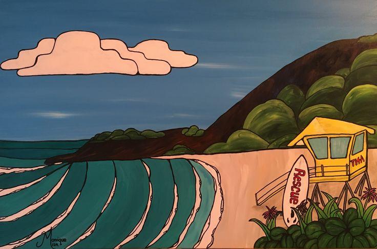Big Beach Inspired #glitzoncanvas #gingerglitzcanvas