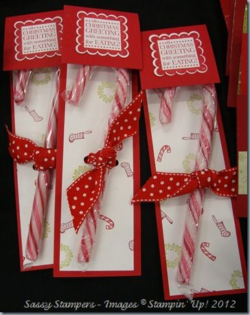 Candy Cane Stocking Fillers    www.thesassystampers.blogspot.co.uk
