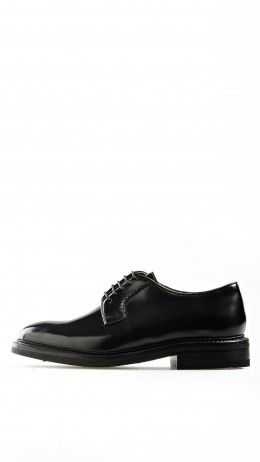 Goodyear-welted derby shoes in black