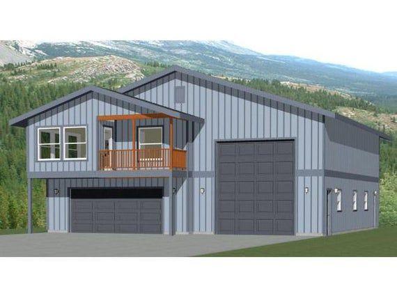 44x48 House 1 Bedroom 1 5 Bath 1648 Sq Ft Pdf Floor Etsy In 2021 Barn House Plans Garage Apartment Plans Garage House Plans