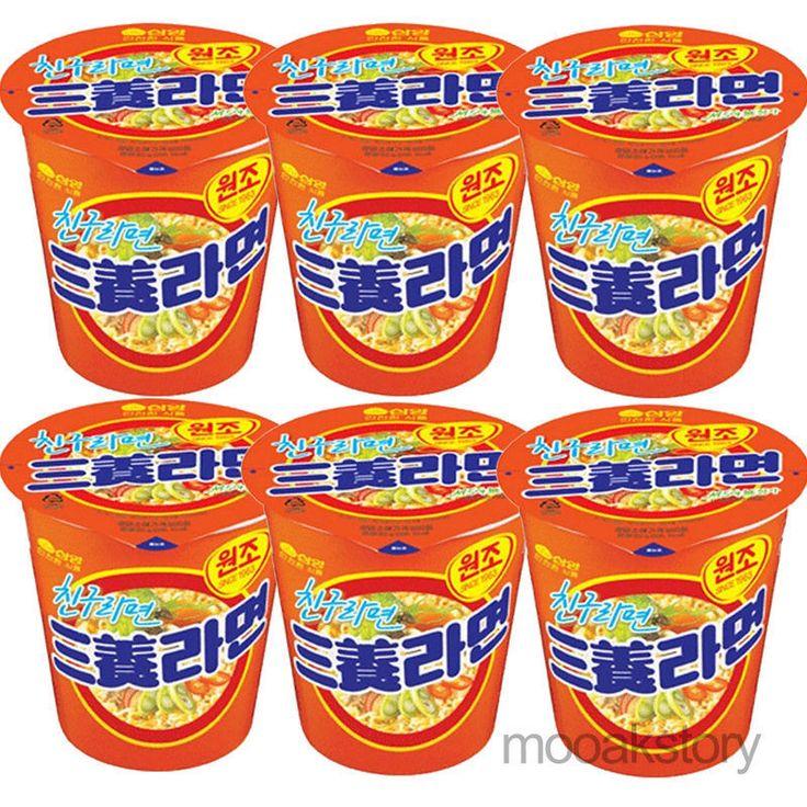 Korea Ramen SanYang Ramyun Cup SamYang Original Instant Noodle Spicy Soup 6ea #SamYang