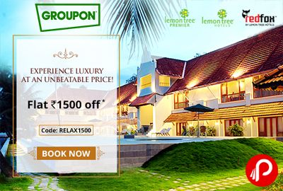 Get Flat Rs.1500 off on Lemon Tree Hotels – Groupon