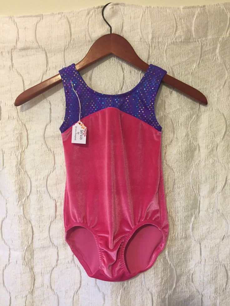 A personal favorite from my Etsy shop https://www.etsy.com/listing/234898405/size-7-pink-and-purple-girls-gymnastics
