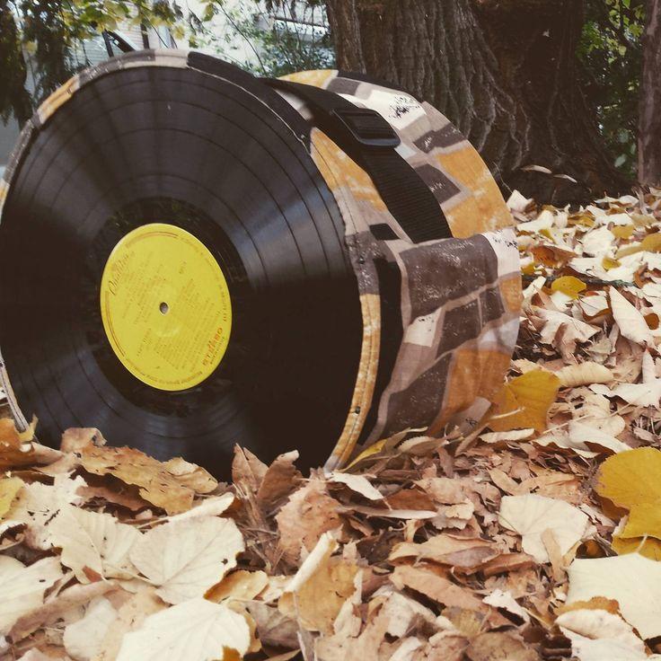 Igazi ősz!  #újrahasznosítás #szeretematatyom #musicbag #recycle #vynil