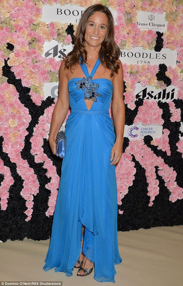 Sensational: Pippa Middleton was in the mood to let her hair down on Saturday night as she attended the BoodlesBoxing Ball in London