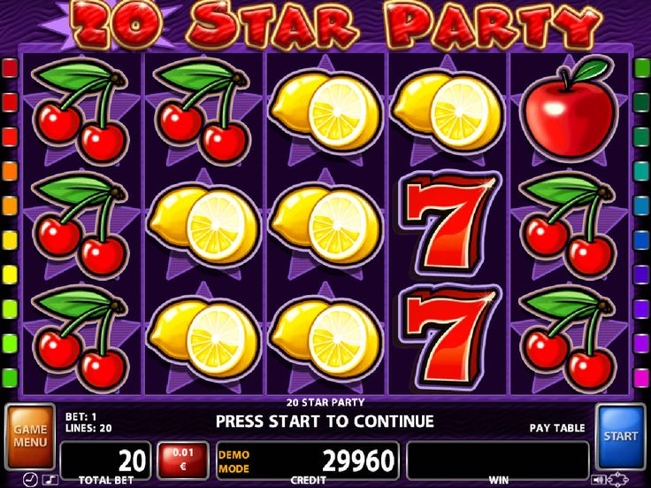 20 Star Party - http://freeslots77.com/20-star-party/ - Do you enjoy fruit-based simple virtual slot games that are beneficial for your wallet? Play 20 Star Party online slot game and see why the slot lovers prefer to enjoy such games. Developed by Casino Technology, the five-reel slot game will remind you the classic slots. However, the slot does...