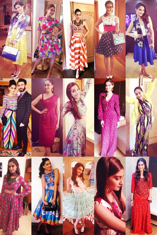 2014 Fashion Retrospective: Best Moments of the Year Sonam Kapoor's Khoobsurat promotion circuit outfits