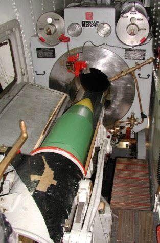 Gun turret on battleship
