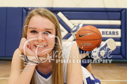 Senior Basketball Picture; gym; cute take on an old pose