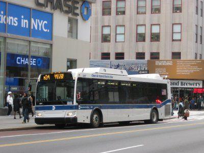 NYでバスに乗ってタイムズスクエアへ