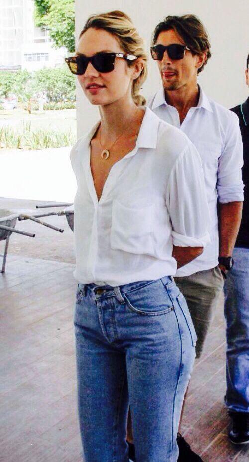 #street #style Candice Swanepoel casual @wachabuy