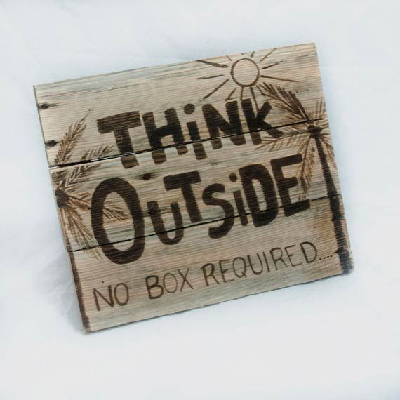Think Outside: No Box Required by SimplyPallets on Etsy