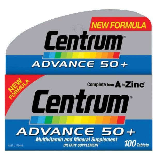Centrum Advance 50+ 100 Tablets - Chemist Warehouse