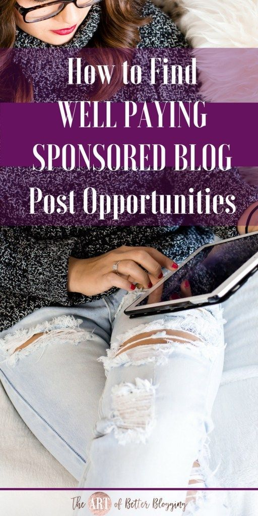 Sponsored blog posts are a great way to earn money blogging for certain niches but how do you find well paying opportunities? Let me show you!