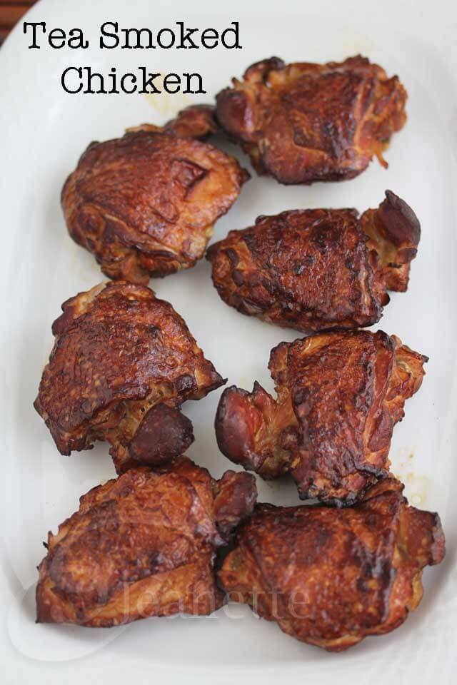 Tea Smoked Chicken in a Wok Recipe ~ http://jeanetteshealthyliving.com